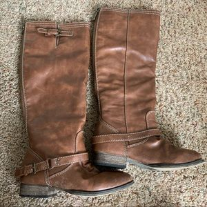 ❕GENTLY WORN Light Brown Fall Boots | 5.5-6.